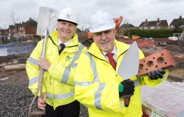 Jessup Managing Director, Clive Jessup, and Councillor Peter Bilson at the Danesmore Pastures site