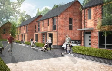 An artist's impression of what the Tower and Fort Works housing development will look like