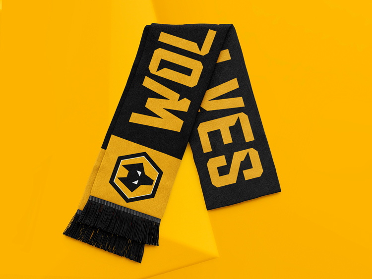 Wolves scarf over rebranded 3D wolf head